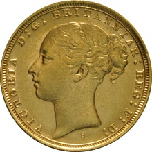 1884 Gold Sovereign - Victoria Young Head - S