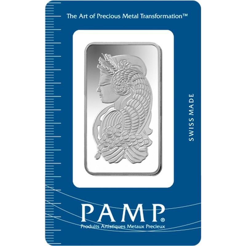 PAMP 50 Gram Silver Bar Minted