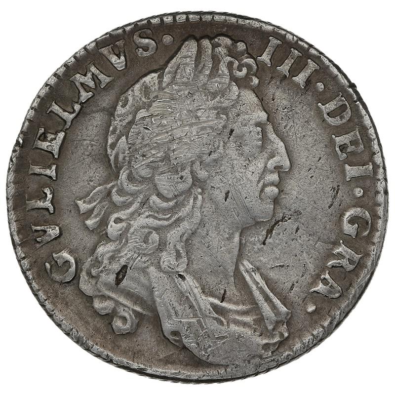 1697 William III Shilling - Very Fine