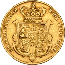 1829 Gold Sovereign - George IV Bare Head NGC XF45