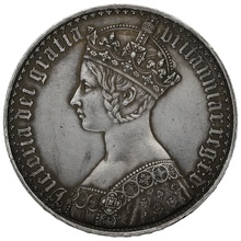 "1847 Queen Victoria ""Gothic"" Crown UNDECIMO"