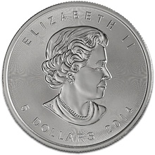 2014 1oz Canadian Maple Silver Coin