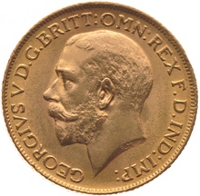 1919 Gold Sovereign - King George V - P