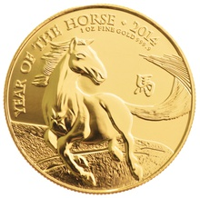 2014 Royal Mint 1oz Year of the Horse Gold Coin