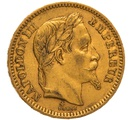 1861 20 French Francs - Napoleon III Laureate Head - BB