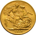 1917 Gold Sovereign - King George V - M