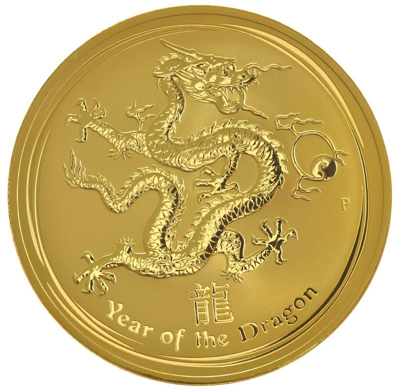1kg Gold Australian Year of the Dragon 2012
