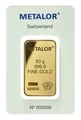 Metalor 50 Gram Gold Bars