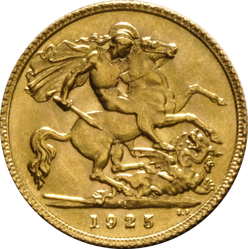 1925 Gold Half Sovereign - King George V - SA