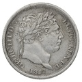 1817 George III  Silver Shilling