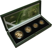 2003 Gold Proof Sovereign Four Coin Set Boxed
