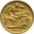 1898 Gold Half Sovereign - Victoria Old Head - London
