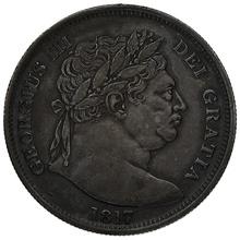 1817 George III  Silver Half Crown