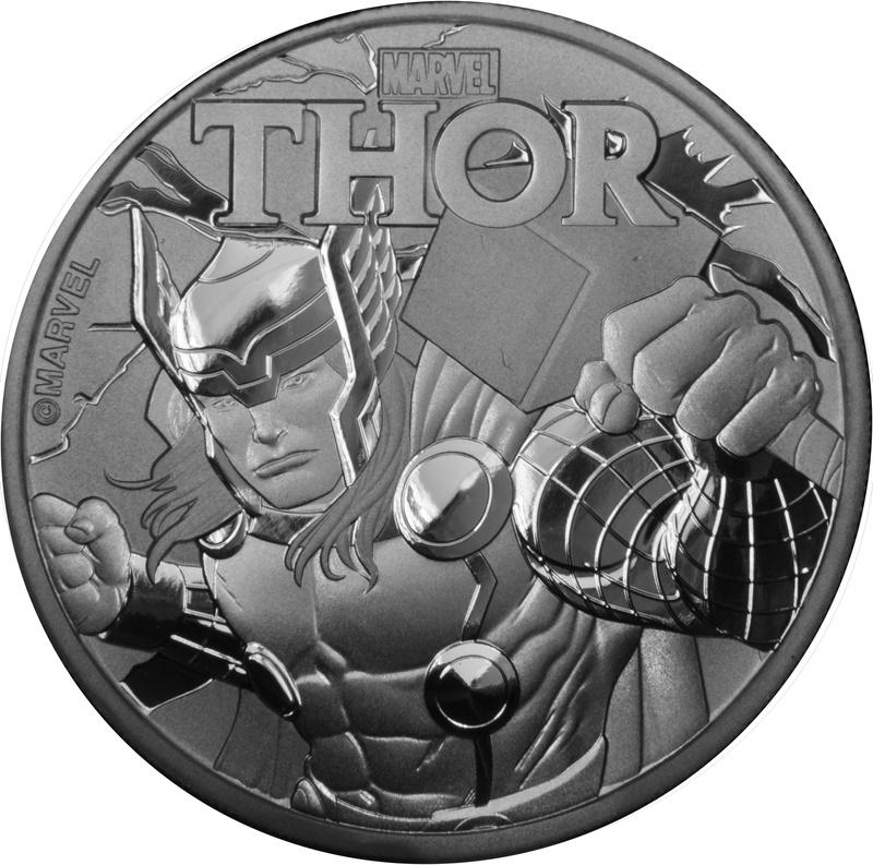2018 Thor 1oz Silver Coin