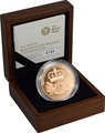 2010 - Gold £5 Proof Crown, Restoration of the Monarchy Boxed