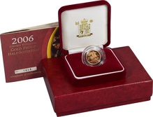 Gold Proof 2006 Half Sovereign Boxed