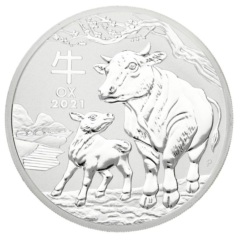 2021 2oz Australian Lunar Year of the Ox Silver Coin