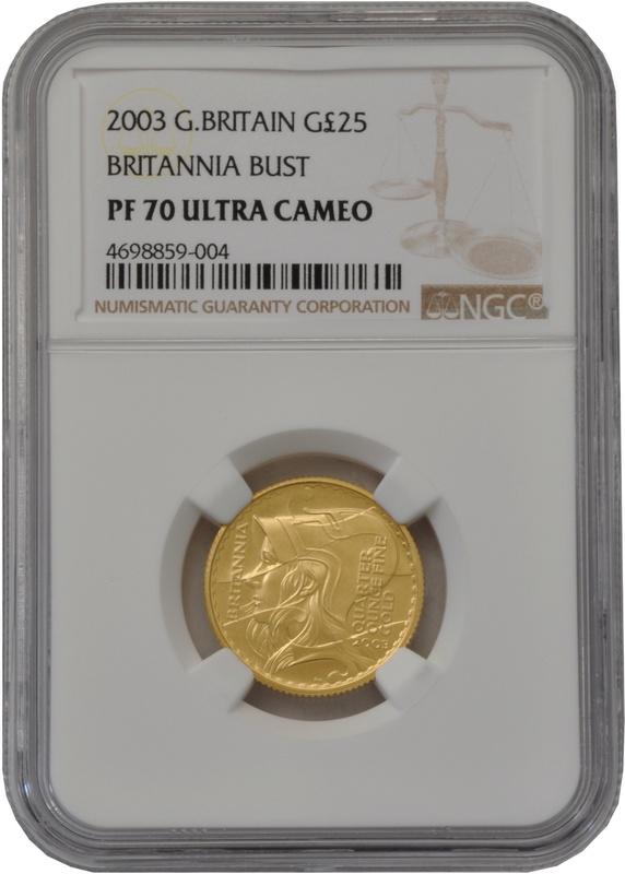 2003 Quarter Ounce Proof Britannia Gold Coin NGC PF70