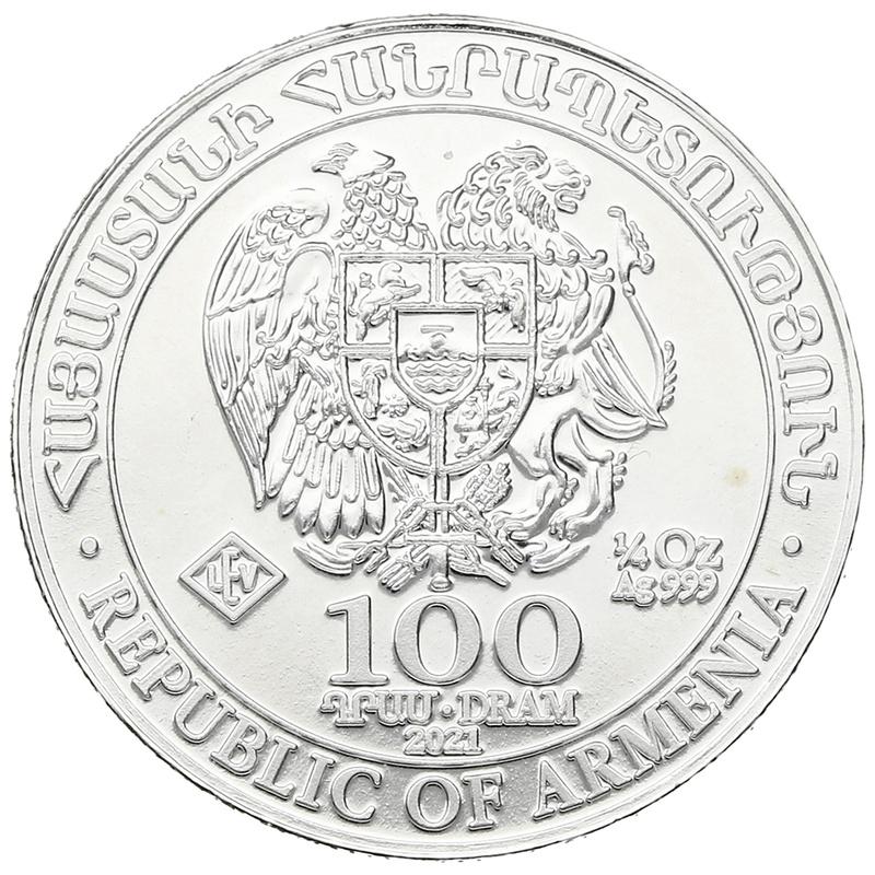 2021 Armenian Noah's Ark, 1/4oz Silver Coin