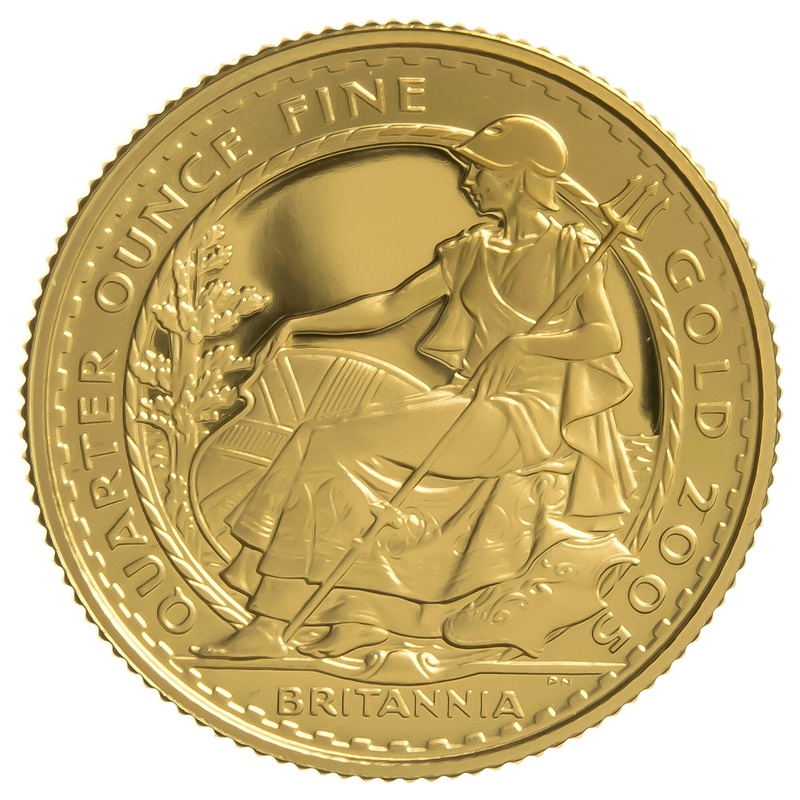 2005 Quarter Ounce Proof Britannia Gold Coin
