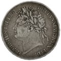 1821 George IV Silver Crown - Good Fine