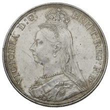 1887 Queen Victoria Silver Milled Crown - Extremely Fine