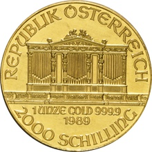 1989 1oz Austrian Gold Philharmonic Coin
