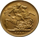 1918 Gold Sovereign - King George V - S