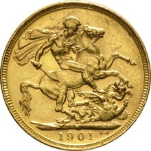 1901 Gold Sovereign - Victoria Old Head - M