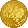 1kg Gold Australian Year of the Rabbit 2011