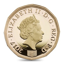 Gold Proof 2017 £1 One Pound Nations of the Crown 2017 Boxed