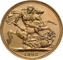 1982 Gold Sovereign - Elizabeth II Decimal Portrait