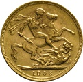 1906 Gold Sovereign - King Edward VII - M