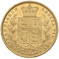 1852 Gold Sovereign - Victoria Young Head Shield Back - London