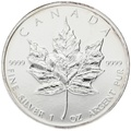 1996 1oz Canadian Maple Silver Coin