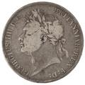 1821 George IV Crown - Fair