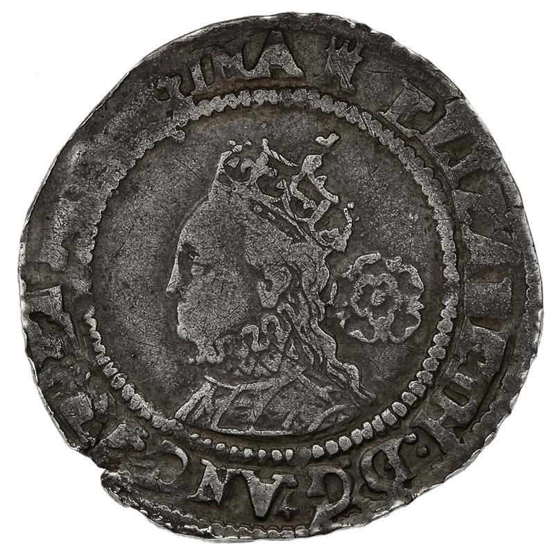 1570 Elizabeth I Silver Sixpence mm Castle