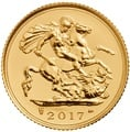 2017 Gold Half Sovereign Elizabeth II Fifth Head