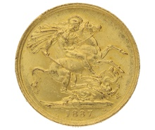 1887 Double Sovereign