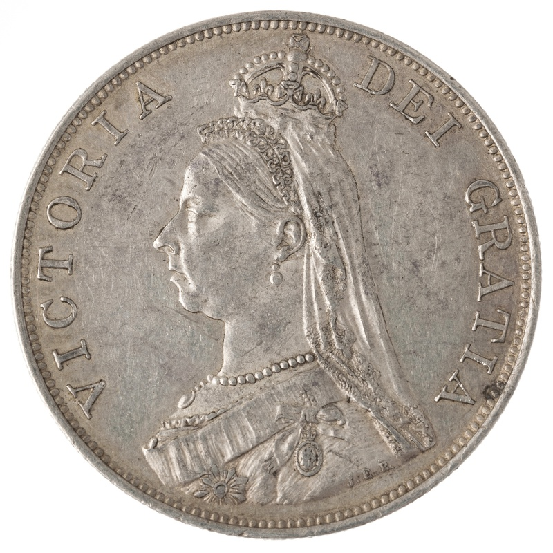 1887 Victoria Double Florin - Extremely Fine