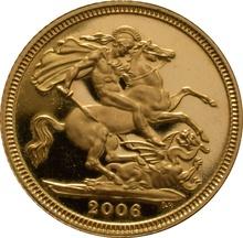 2006 Gold Half Sovereign Elizabeth II Fourth Head Proof