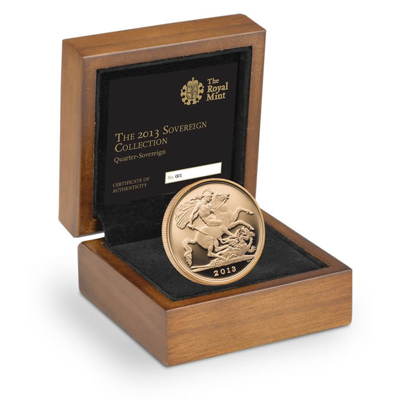 2013 Quarter Sovereign Gold Proof Coin Boxed