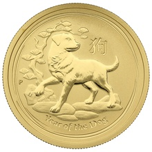 2018 Perth Mint Half Ounce Year of the Dog Gold Coin