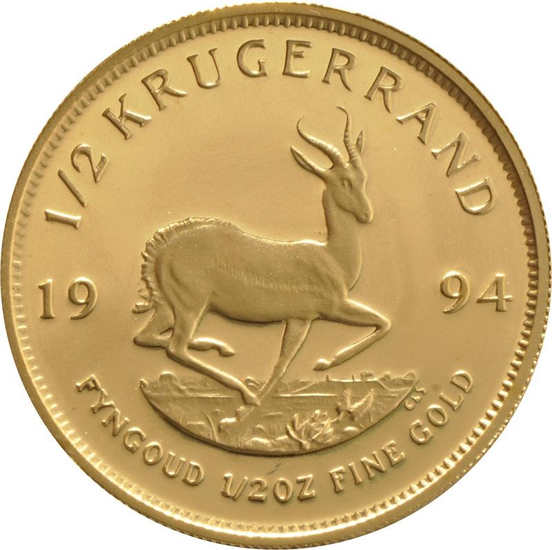 1994 Proof Half Ounce Krugerrand Gold Coin