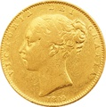 1845 Victoria Young Head Gold Sovereign