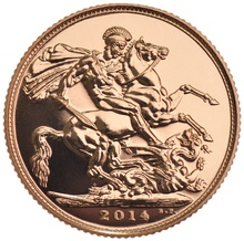 2014 Gold Sovereign - Elizabeth II Fourth Head
