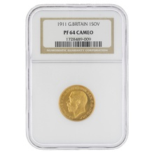 1911 - Gold Proof Sovereign NGC PF64