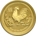 2017 Perth Mint Quarter Ounce Year of the Rooster Gold Coin