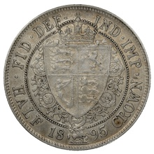1895 Queen Victoria Silver Halfcrown
