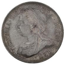 1893 Queen Victoria Silver Halfcrown